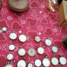 Relojes de bolsillo: LOTAZO RELOJES DE BOLSILLO ANTIGUOS DE CUERDA Y LLAVE PARA PIEZAS O RESTAURAR. Lote 143055908