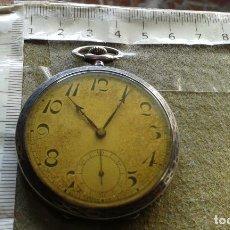 Relojes de bolsillo: RELOJ DE BOLSILLO DE PLATA MARCA ANCRE A CUERDA, FUNCIONA , AUNQUE ALGUNAS VECES SE PARA. Lote 143258266