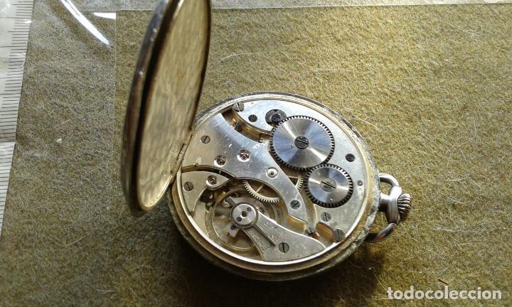 Relojes de bolsillo: RELOJ DE BOLSILLO DE PLATA MARCA ANCRE A CUERDA, FUNCIONA , AUNQUE ALGUNAS VECES SE PARA - Foto 3 - 143258266