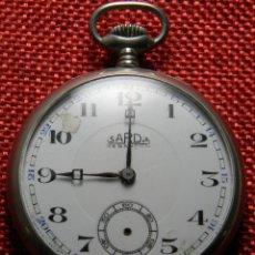 Relojes de bolsillo: SARDA BESANÇON – DESDE 1893 – CONTRASTE Y NUMERADO – 82 GRAMOS – 51 MM - ALPACA. Lote 143455514