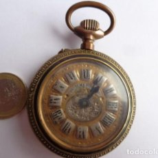 Relojes de bolsillo: MUY ANTIGUO (SOBRE 1900) PRECIOSO IMPORTANTE RELOJ BOLSILLO ROSKOPF BRONCE GRANDE FUNCIONANDO PERFEC. Lote 143565870
