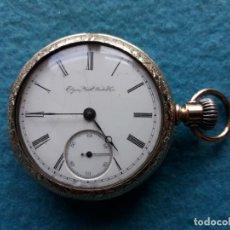 Relojes de bolsillo: RELOJ DE BOLSILLO ANTIGUO ELGIN NATL WATCH CO. PARA CABALLERO. FUNCIONANDO. Lote 143575882