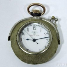 Relojes de bolsillo: RELOJ BOLSILLO F BACHSCHMID. PATENT 4554. ACERO PAVONADO Y ORO ROSA. . Lote 143602494