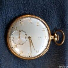 Relojes de bolsillo: ANTIGUO RELOJ DE BOLSILLO ORO 18K, DOBLE TAPA .SU PESO TOTAL DE EL ES DE 57,6 GRAMOS.. Lote 143626722