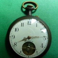 Relojes de bolsillo: RELOJ DE BOLSILLO CON VOLANTE A LA VISTA.. Lote 143751430