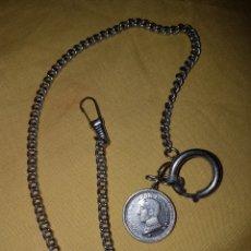 Relojes de bolsillo: CADENA RELOJ BOLSILLO ALFONSO XIII. Lote 143905353