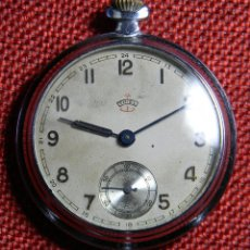 Relojes de bolsillo: ANTIGUO RELOJ DE BOLSILLO CABALLERO MARCA THIEL - ACERO - 54 GRAMOS - 48 MM. Lote 143912546