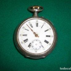 Relojes de bolsillo: RELOJ DE BOLSILLO PLATA DE LEY. Lote 143930286