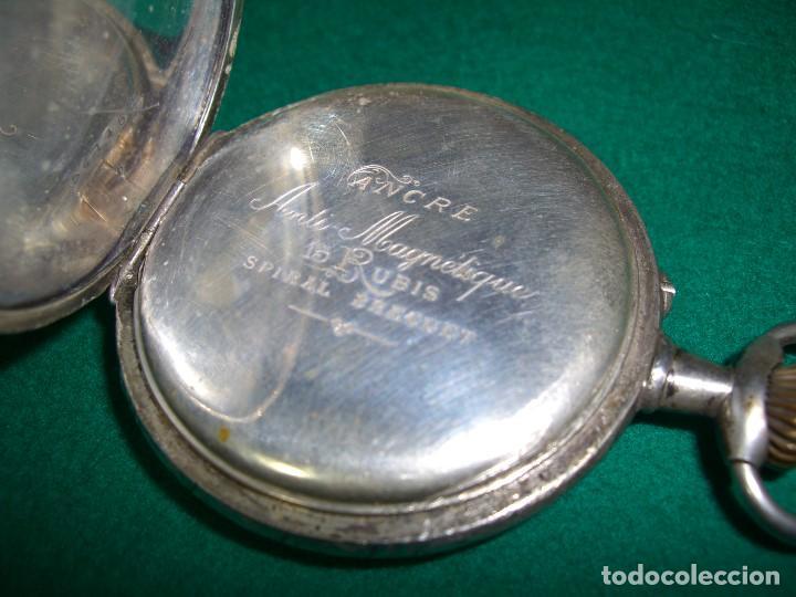 Relojes de bolsillo: RELOJ DE BOLSILLO PLATA DE LEY - Foto 3 - 143930286
