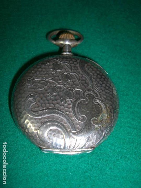 Relojes de bolsillo: RELOJ DE BOLSILLO PLATA DE LEY - Foto 6 - 143930286
