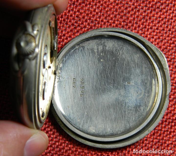 Relojes de bolsillo: Antiguo reloj de bolsillo Caballero - Alpaca - 108 gramos - 52 mm - Numerado y contrastado. Funciona - Foto 5 - 143958202