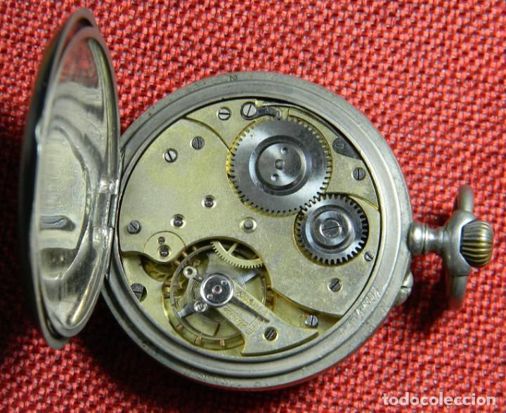 Relojes de bolsillo: Antiguo reloj de bolsillo Caballero - Alpaca - 108 gramos - 52 mm - Numerado y contrastado. Funciona - Foto 7 - 143958202