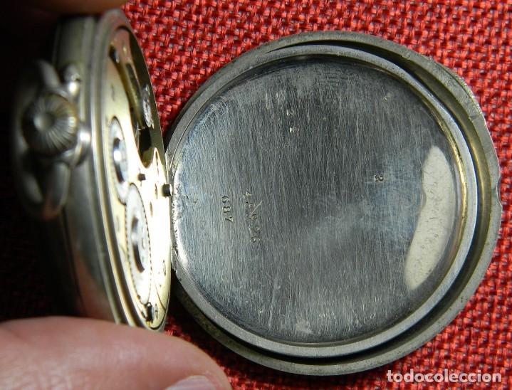 Relojes de bolsillo: Antiguo reloj de bolsillo Caballero - Alpaca - 108 gramos - 52 mm - Numerado y contrastado. Funciona - Foto 8 - 143958202