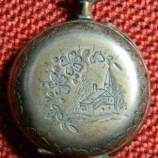 Relojes de bolsillo: ANTIGUO RELOJ DE BOLSILLO SEÑORA - PLATA 800 MILESIMAS - 20 GRAMOS - 31 MM - NUMERADO Y CONTRASTADO. Lote 143980338