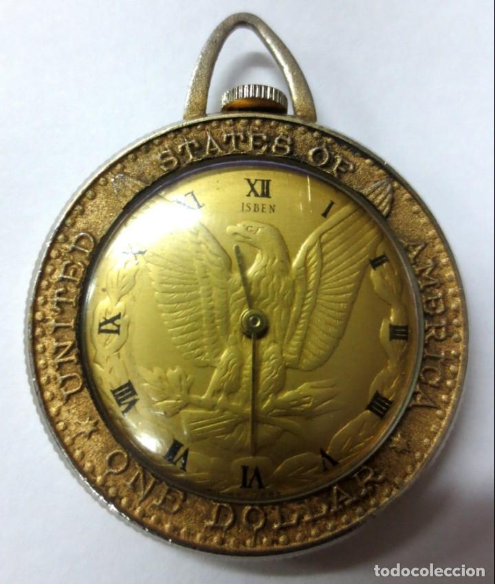 DOLLAR RELOJ MAQUINARIA ISBEN SUIZA 4 CM DE DIAMETRO (Relojes - Bolsillo Carga Manual)