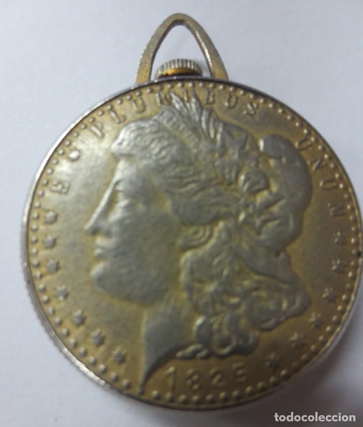 Relojes de bolsillo: DOLLAR RELOJ MAQUINARIA ISBEN SUIZA 4 CM DE DIAMETRO - Foto 2 - 144090038