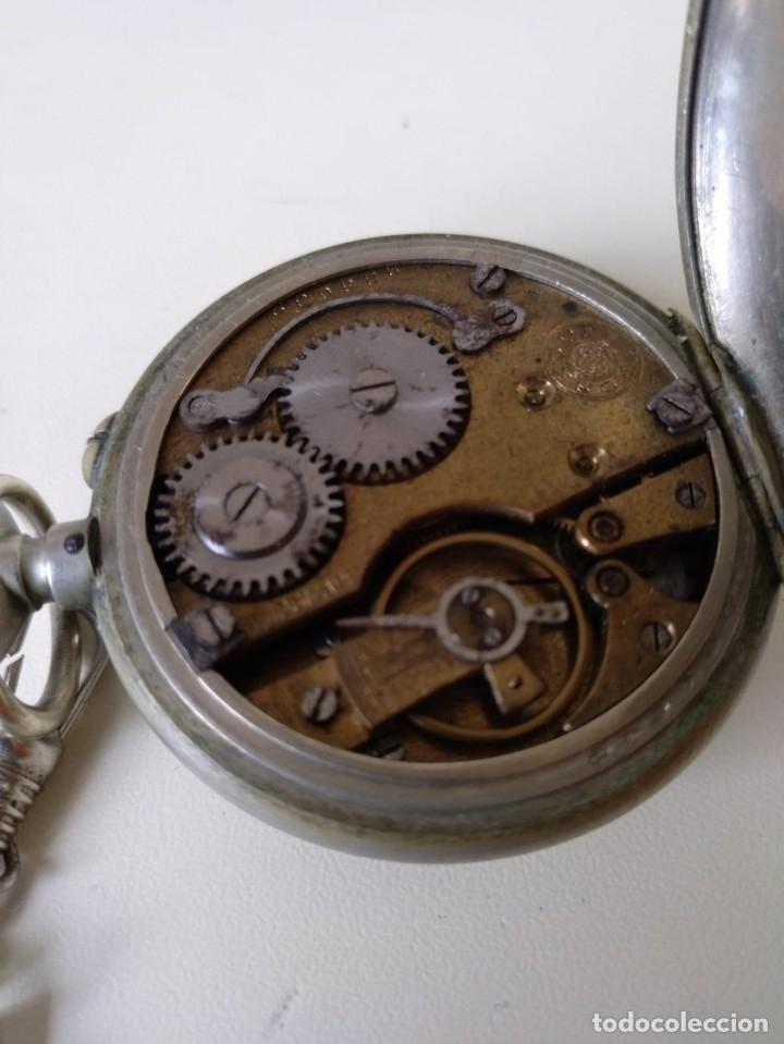 Relojes de bolsillo: Reloj de bolsillo Roskopf, de Cuervo y Sobrinos, La Habana. Con cadena. La maquinaria funciona bien - Foto 2 - 144320586