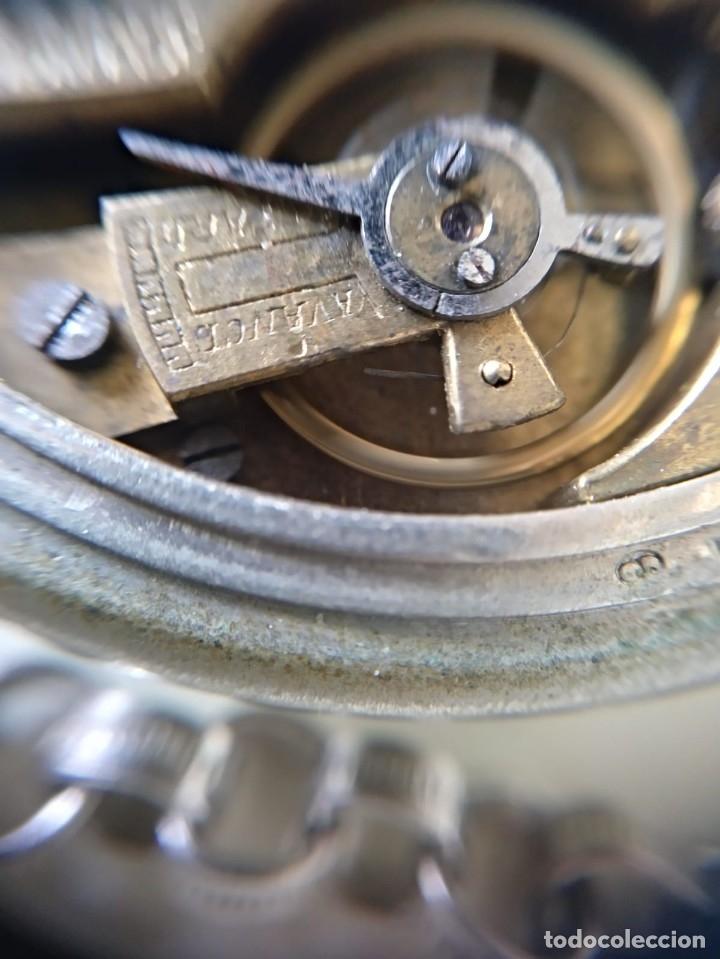 Relojes de bolsillo: Reloj de bolsillo Roskopf, de Cuervo y Sobrinos, La Habana. Con cadena. La maquinaria funciona bien - Foto 5 - 144320586