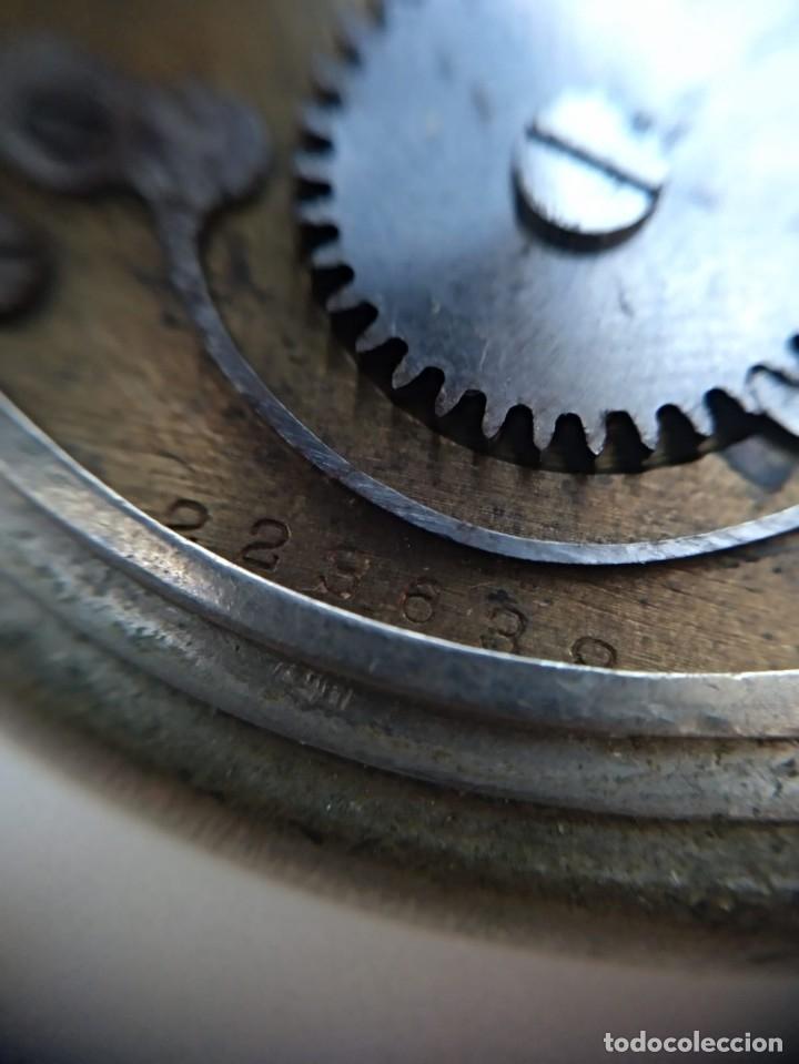 Relojes de bolsillo: Reloj de bolsillo Roskopf, de Cuervo y Sobrinos, La Habana. Con cadena. La maquinaria funciona bien - Foto 6 - 144320586