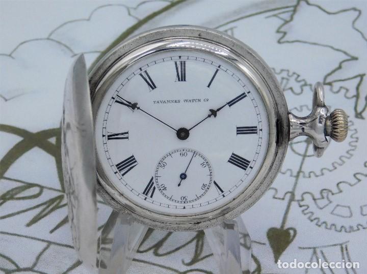 a1db9b9238df Relojes de bolsillo  TAVANNES WATCH Cº- ENCANTADOR RELOJ DE BOLSILLO  SABONETA-DE PLATA