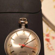 Relojes de bolsillo: ANTIGUO RELOJ CAUNY DE BOLSILLO 4 CTMOS FUNCIONANDO, NO TIENE RALLONES EN EL CRISTAL, CONSERVADO. Lote 144589734