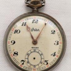 Relojes de bolsillo: ANTIGUO RELOJ DE BOLSILLO CUERDA BRITER.. Lote 144641785