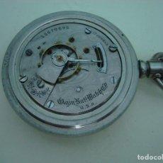 Relojes de bolsillo: ELGIN BISEL A ROSCA. Lote 145126566