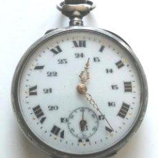 Relojes de bolsillo: RELOJ BOLSILLO, 3 TAPAS, FUNCIONA. MED. 45 MM SIN CONTAR TIJA CORONA. Lote 145220030