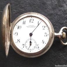 Relojes de bolsillo: ANTIGUO RELOJ DE BOLSILLO DAMA LONGINES PLATA. Lote 145607269