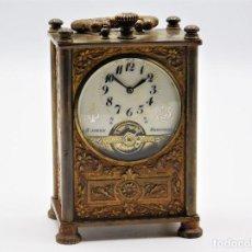 Relojes de bolsillo: HEBDOMAS 8 DÍAS-PRECIOSO Y ENCANTADOR RELOJ DE CARRUAJE-FUNCIONANDO. Lote 145651466