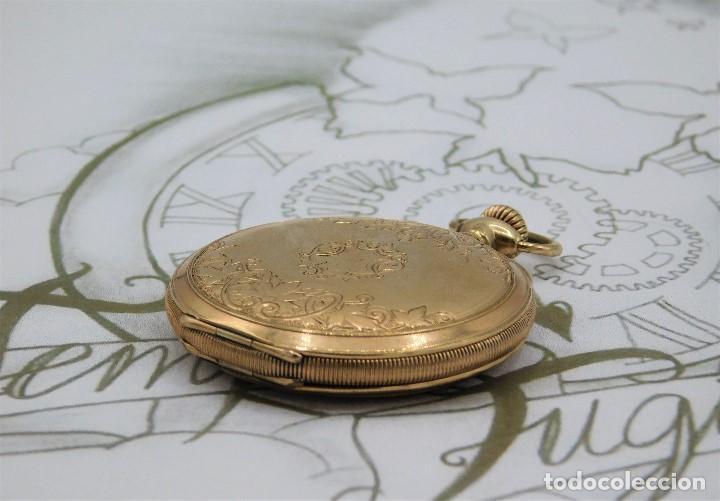 Relojes de bolsillo: ELGIN NAT.WATH Cº USA-FANTASTICO RELOJ BOLSILLO-17 RUBÍS-3 TAPAS-CIRCA 1911-FUNCIONANDO - Foto 5 - 145750674