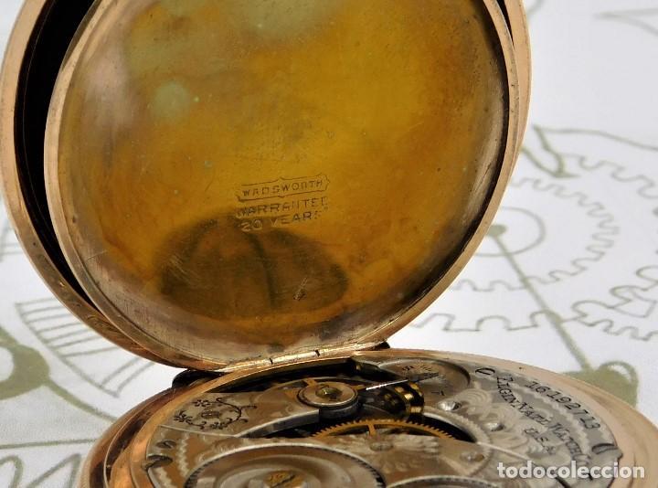 Relojes de bolsillo: ELGIN NAT.WATH Cº USA-FANTASTICO RELOJ BOLSILLO-17 RUBÍS-3 TAPAS-CIRCA 1911-FUNCIONANDO - Foto 7 - 145750674