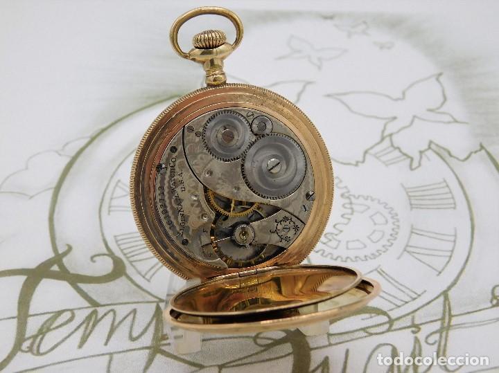 Relojes de bolsillo: ELGIN NAT.WATH Cº USA-FANTASTICO RELOJ BOLSILLO-17 RUBÍS-3 TAPAS-CIRCA 1911-FUNCIONANDO - Foto 12 - 145750674