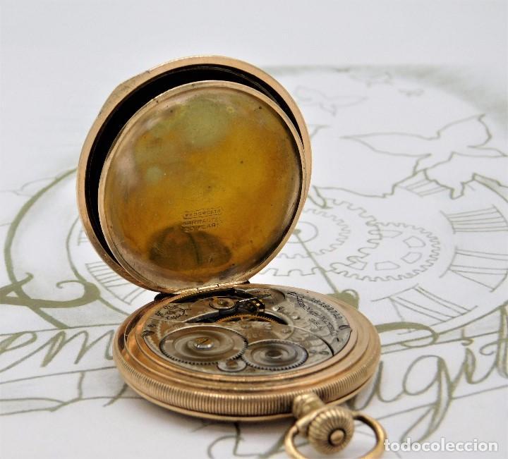 Relojes de bolsillo: ELGIN NAT.WATH Cº USA-FANTASTICO RELOJ BOLSILLO-17 RUBÍS-3 TAPAS-CIRCA 1911-FUNCIONANDO - Foto 13 - 145750674