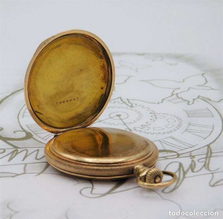 Relojes de bolsillo: ELGIN NAT.WATH Cº USA-FANTASTICO RELOJ BOLSILLO-17 RUBÍS-3 TAPAS-CIRCA 1911-FUNCIONANDO - Foto 14 - 145750674