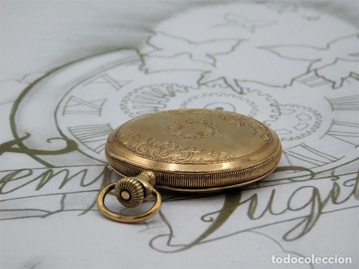 Relojes de bolsillo: ELGIN NAT.WATH Cº USA-FANTASTICO RELOJ BOLSILLO-17 RUBÍS-3 TAPAS-CIRCA 1911-FUNCIONANDO - Foto 15 - 145750674