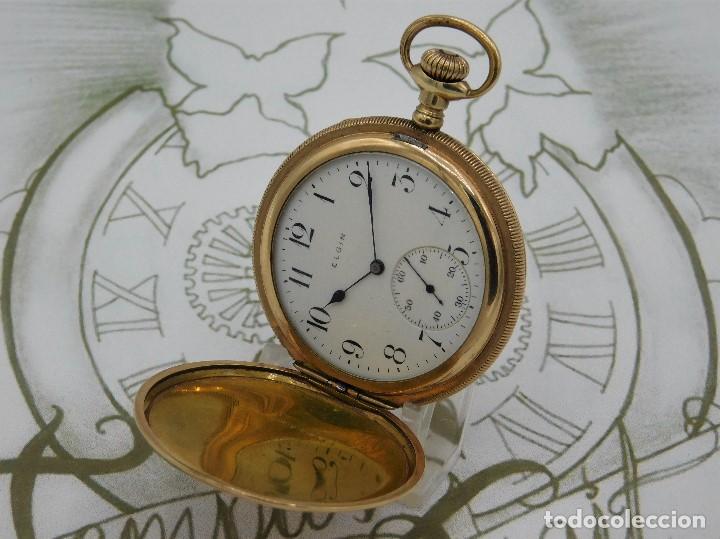 Relojes de bolsillo: ELGIN NAT.WATH Cº USA-FANTASTICO RELOJ BOLSILLO-17 RUBÍS-3 TAPAS-CIRCA 1911-FUNCIONANDO - Foto 16 - 145750674
