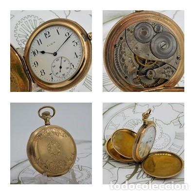 ELGIN NAT.WATH Cº USA-FANTASTICO RELOJ BOLSILLO-17 RUBÍS-3 TAPAS-CIRCA 1911-FUNCIONANDO (Relojes - Bolsillo Carga Manual)