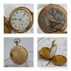 Relojes de bolsillo: ELGIN NAT.WATH Cº USA-FANTASTICO RELOJ BOLSILLO-17 RUBÍS-3 TAPAS-CIRCA 1911-FUNCIONANDO. Lote 145750674