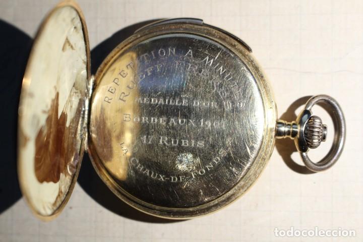 Relojes de bolsillo: RELOJ DE BOLSILLO DE 1907 - RUEFF FRERES - 17 RUBIS 18K - BORDEAUX 1907 - FUNCIONAL - Foto 3 - 146135638
