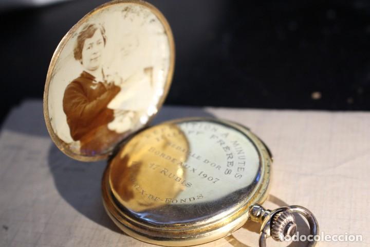 Relojes de bolsillo: RELOJ DE BOLSILLO DE 1907 - RUEFF FRERES - 17 RUBIS 18K - BORDEAUX 1907 - FUNCIONAL - Foto 4 - 146135638