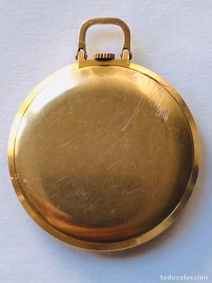 Relojes de bolsillo: Reloj bolsillo Longines Oro años 70 con leontina de oro - Foto 3 - 146385906