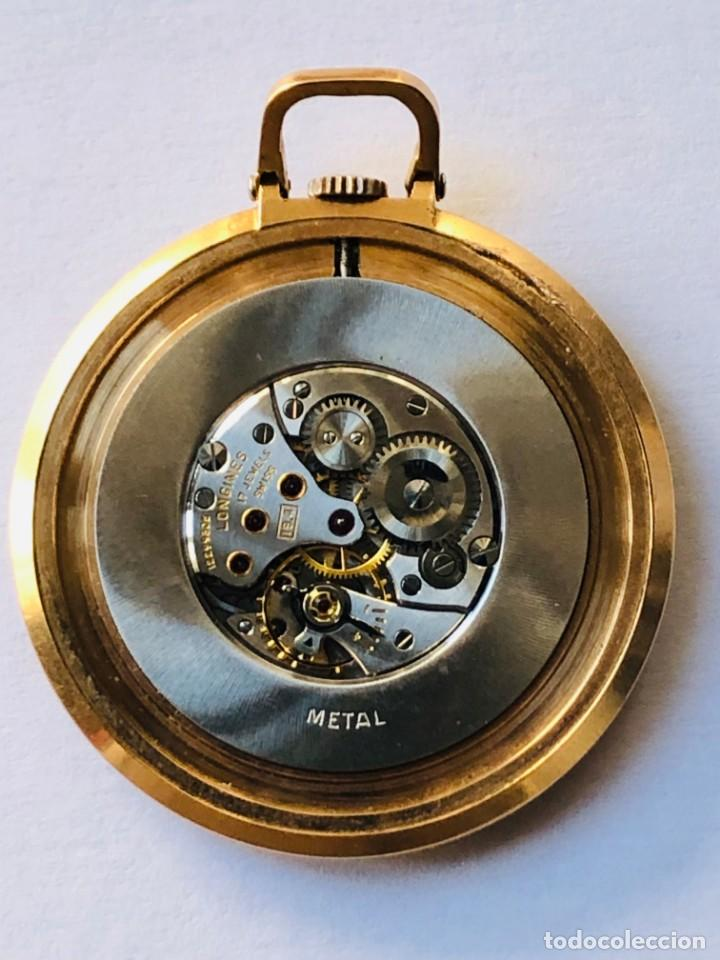 Relojes de bolsillo: Reloj bolsillo Longines Oro años 70 con leontina de oro - Foto 4 - 146385906