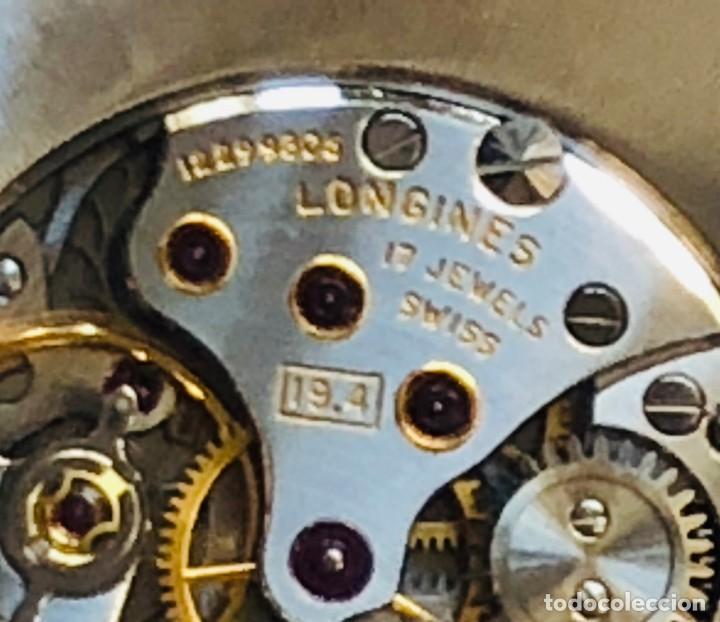 Relojes de bolsillo: Reloj bolsillo Longines Oro años 70 con leontina de oro - Foto 5 - 146385906
