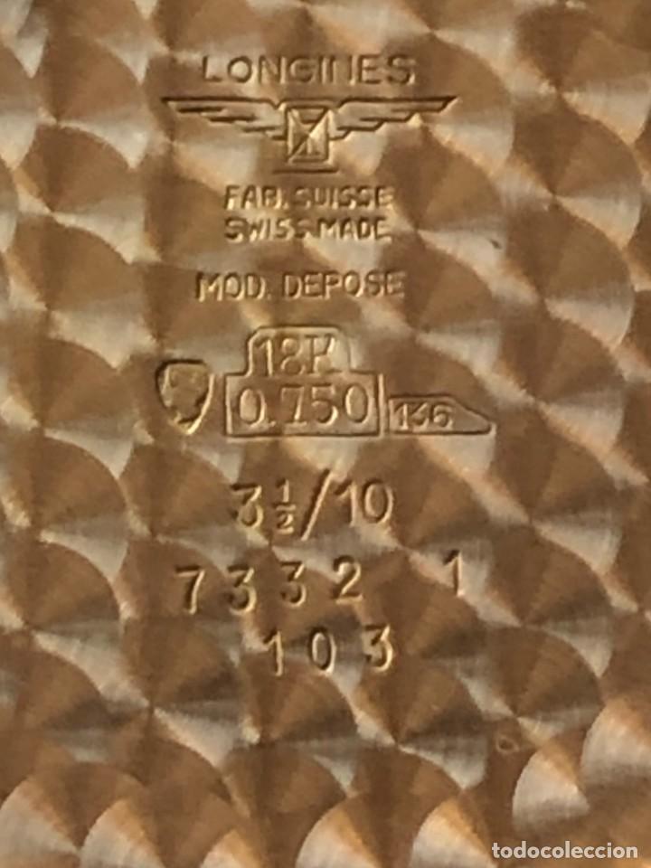 Relojes de bolsillo: Reloj bolsillo Longines Oro años 70 con leontina de oro - Foto 6 - 146385906