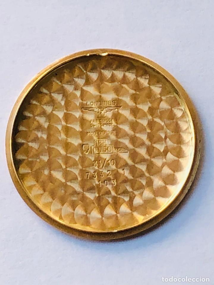 Relojes de bolsillo: Reloj bolsillo Longines Oro años 70 con leontina de oro - Foto 7 - 146385906