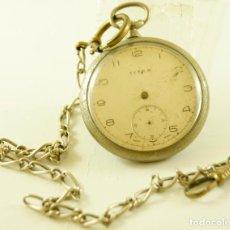Relojes de bolsillo: TITAN BOLSILLO CON LEONTINA 44MM. Lote 146475322