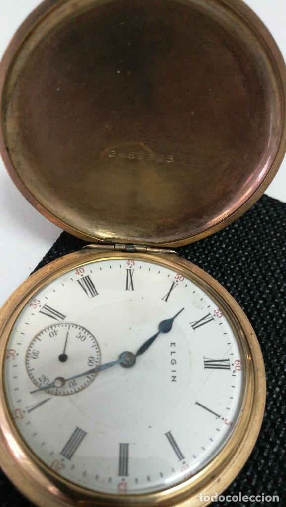 RELOJ ELGIN U.S.A. - 3 TAPAS. FUNCIONANDO (Relojes - Bolsillo Carga Manual)