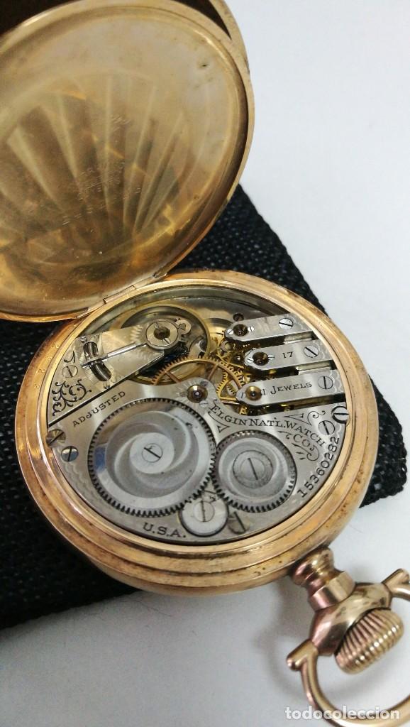 Relojes de bolsillo: RELOJ ELGIN U.S.A. - 3 TAPAS. FUNCIONANDO - Foto 3 - 146521570