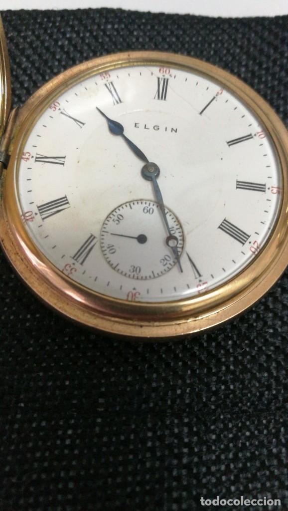 Relojes de bolsillo: RELOJ ELGIN U.S.A. - 3 TAPAS. FUNCIONANDO - Foto 7 - 146521570